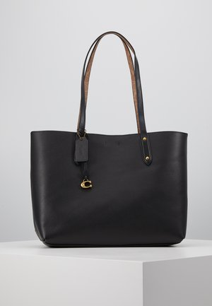 SIGNATURE BLOCKING CENTRAL TOTE - Shopping Bag - tan/black