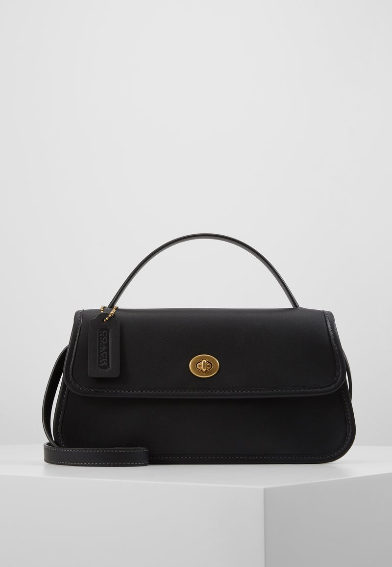 Coach - RUNWAY ORIGINALS GLOVETAN TURNLOCK CLUTCH - Käsilaukku - black