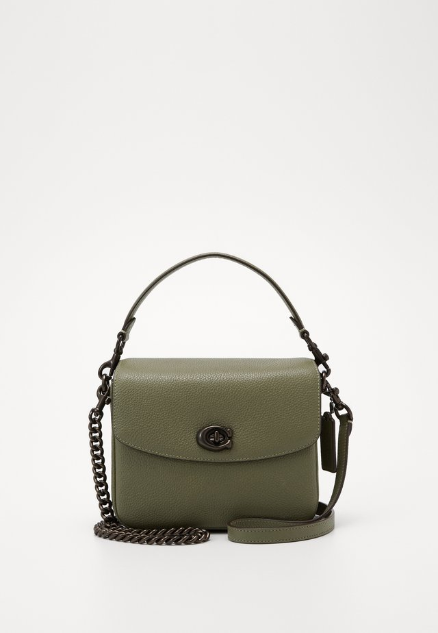 POLISHED PEBBLED CASSIE CROSSBODY - Handbag - light fern