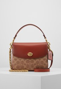 Coach - COATED SIGNATURE CASSIE CROSSBODY - Kabelka - tan rust - 0