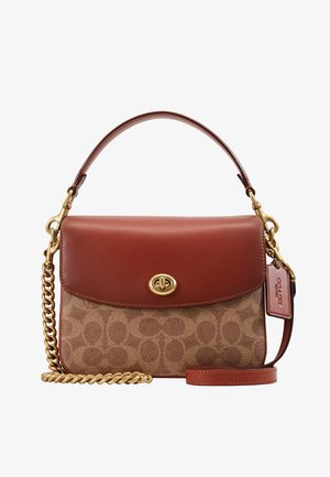 COATED SIGNATURE CASSIE CROSSBODY - Kabelka - tan rust