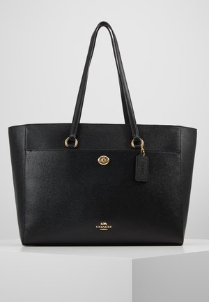 CROSSGRAIN FOLIO TOTE - Shopping bag - black