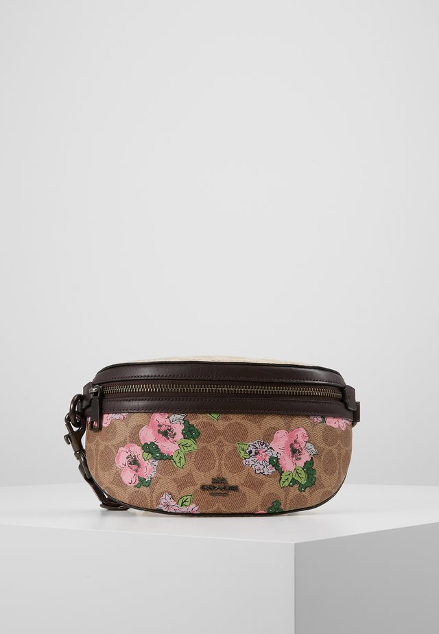 SIGNATURE BLOSSOM PRINT BELT BAG - Ledvinka - tan/sand