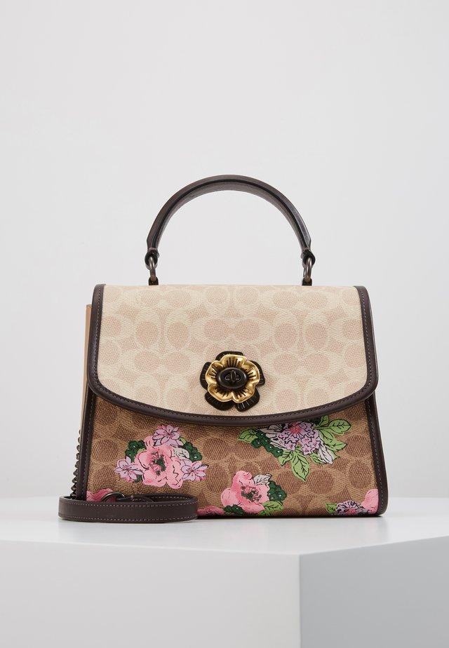 SIGNATURE BLOCK BLOSSOM PRINT SOFT PARKER TOP HAND - Handbag - tan sand print