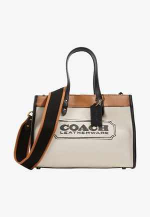 WITH BRANDING FIELD TOTE - Handtasche - light saddle