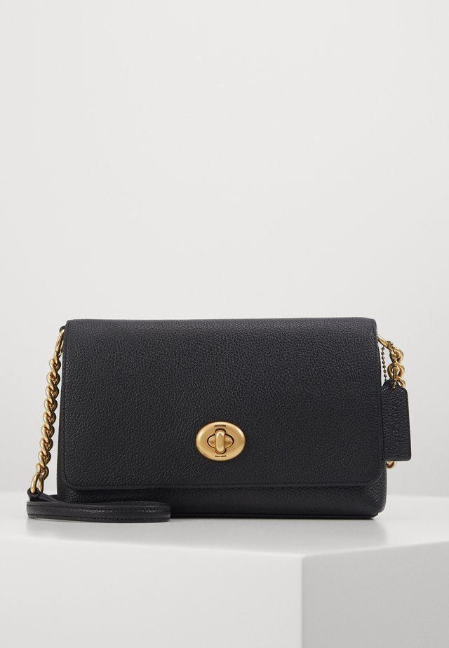 POLISHED PEBBLE CROSSTOWN CROSSBODY - Umhängetasche - black