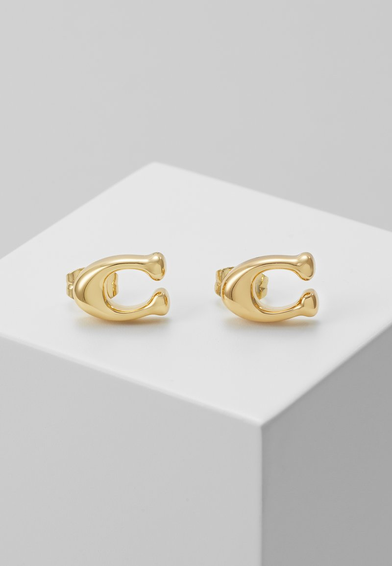 Coach - BUBBLE  STUD EARRING - Náušnice - gold-coloured