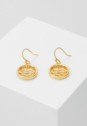 PIERCED SIG DROP EARRINGS - Oorbellen - gold-coloured