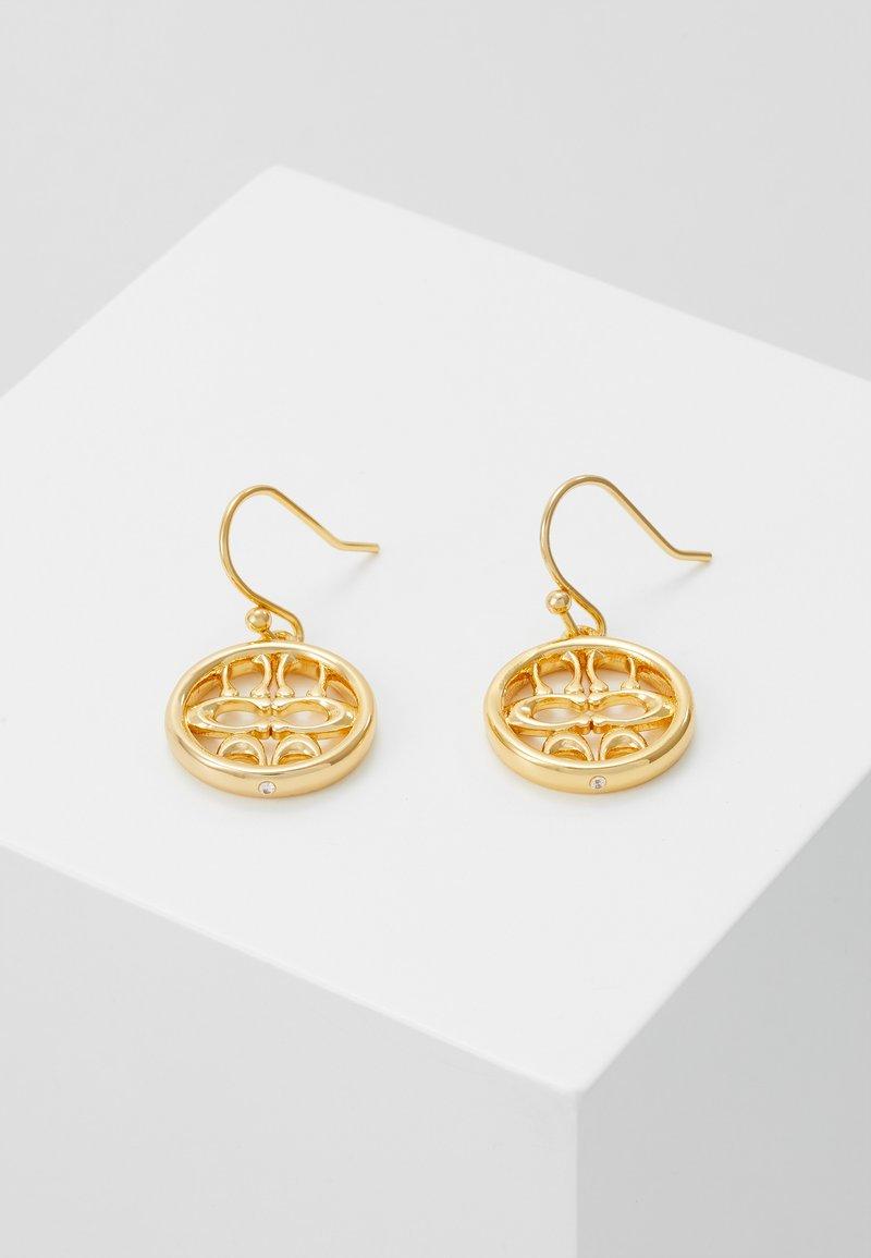Coach - PIERCED SIG DROP EARRINGS - Náušnice - gold-coloured