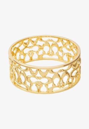 PIERCED SIG BANGLE - Armbånd - gold-coloured