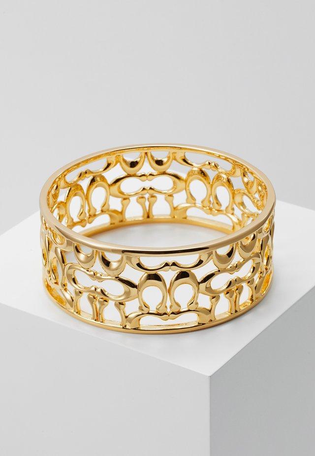 PIERCED SIG BANGLE - Armband - gold-coloured