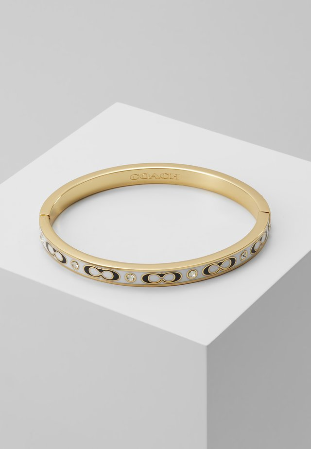 HINGED BANGLE - Armband - gold-coloured/chalk