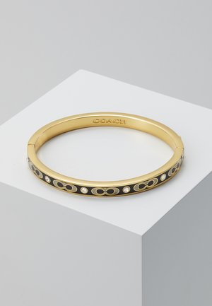 HINGED BANGLE - Bransoletka - gold-coloured/black