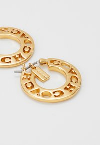 Coach - PIERCED HOOP - Náušnice - gold-coloured - 2