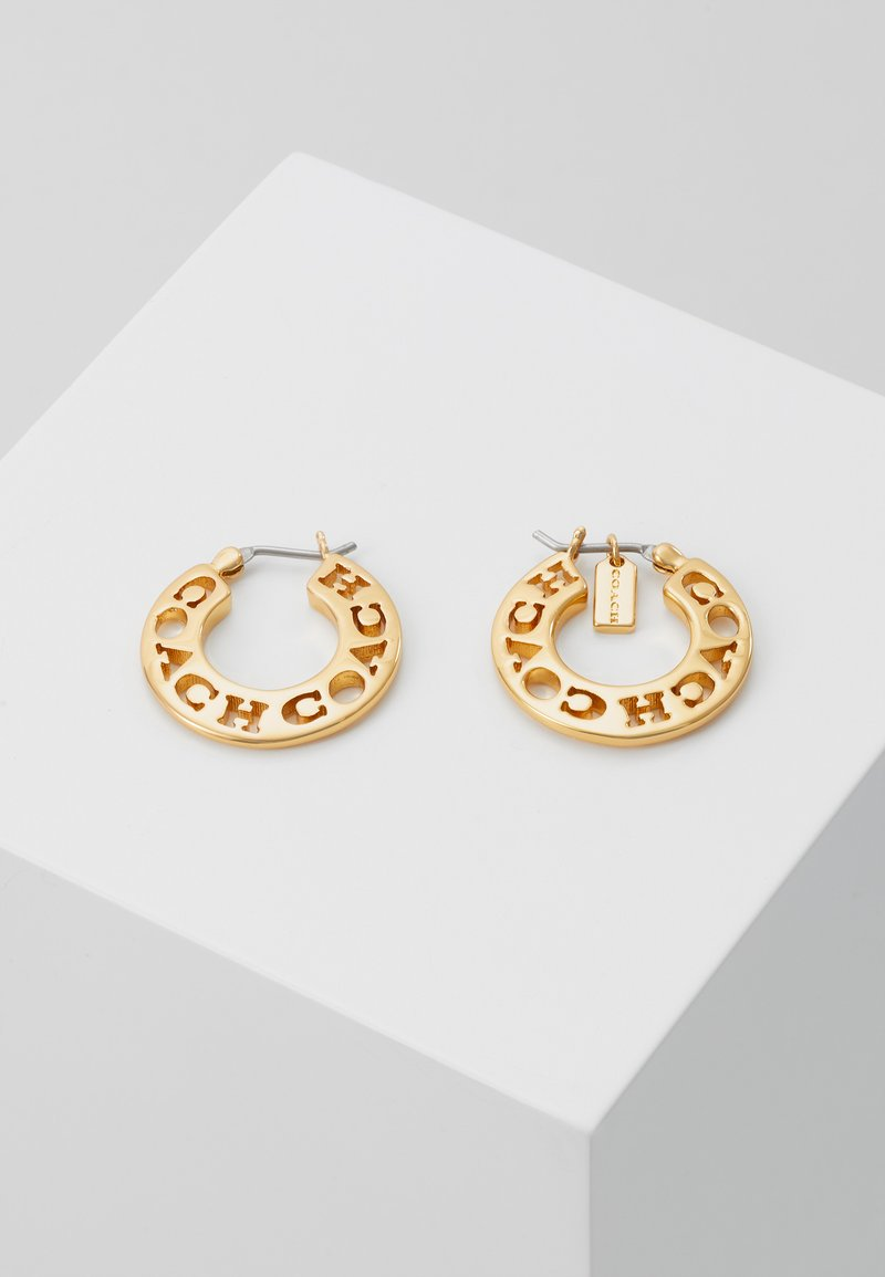 Coach - PIERCED HOOP - Náušnice - gold-coloured