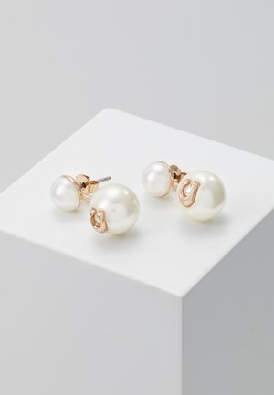 SCULPTED PEARL DROP STUD - Orecchini - rose gold-coloured