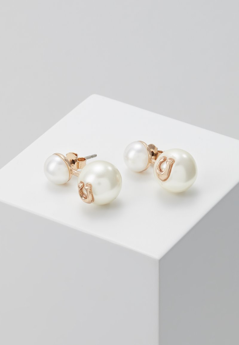 Coach - SCULPTED PEARL DROP STUD - Náušnice - rose gold-coloured