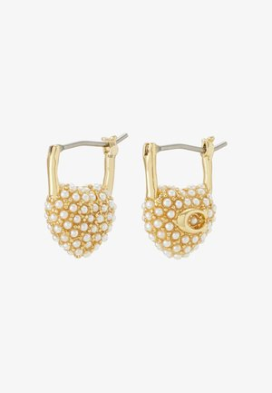 VINTAGE HEART HUGGIE - Earrings - gold-coloured