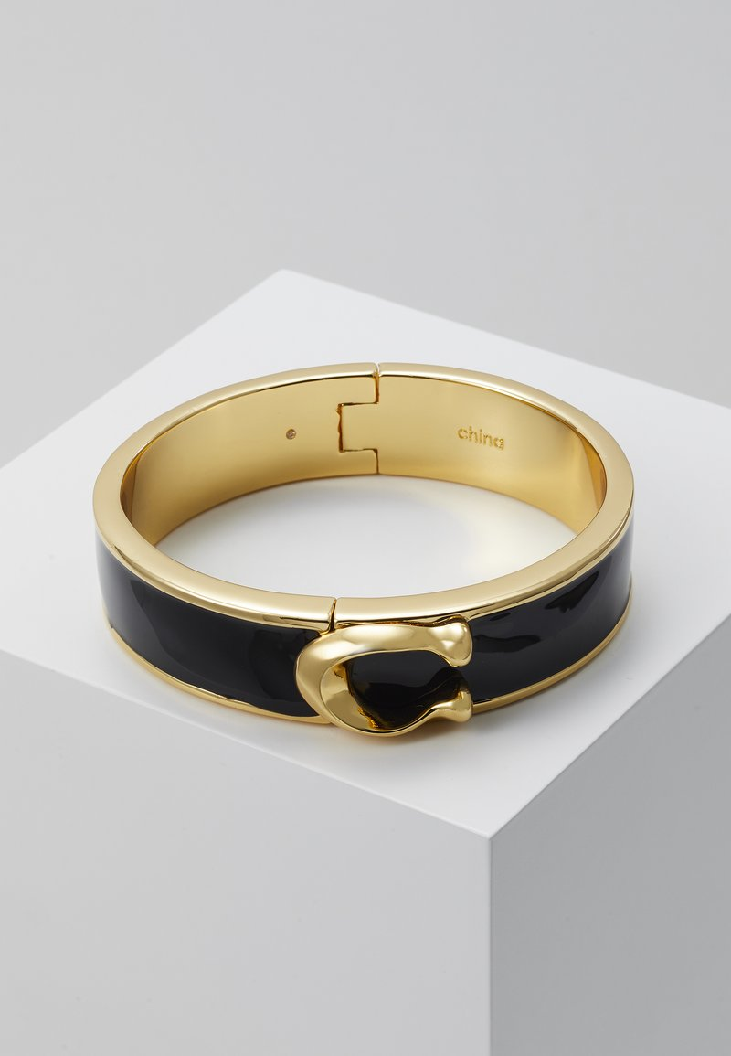 Coach - LARGE HINGED BANGLE - Bransoletka - gold-coloured/black
