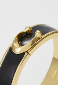 Coach - LARGE HINGED BANGLE - Bransoletka - gold-coloured/black - 4