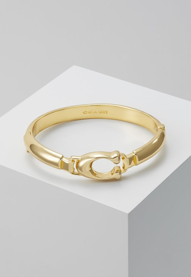 SCULPTED PLAQUE BANGLE - Armband - gold-coloured
