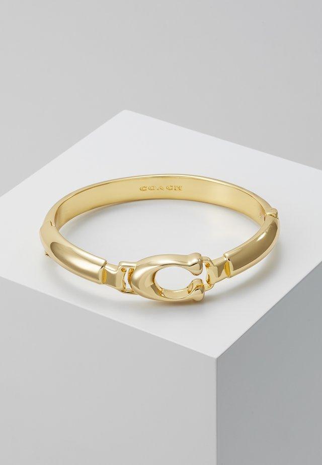 SCULPTED PLAQUE BANGLE - Armbånd - gold-coloured