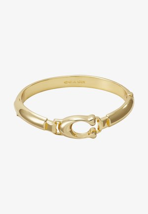 SCULPTED PLAQUE BANGLE - Rannekoru - gold-coloured