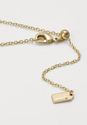 PRIDE RAINBOW PAVE SCULPTED HEART SLIDER NECKLACE - Naszyjnik - gold-coloured