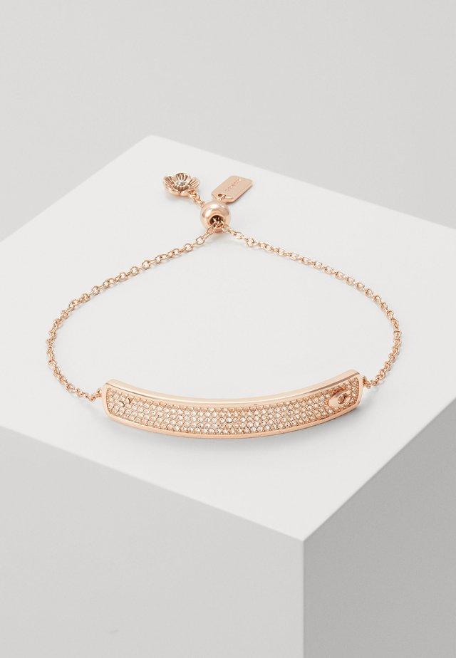 PAVE SLIDER BRACELET - Armbånd - rose gold-coloured