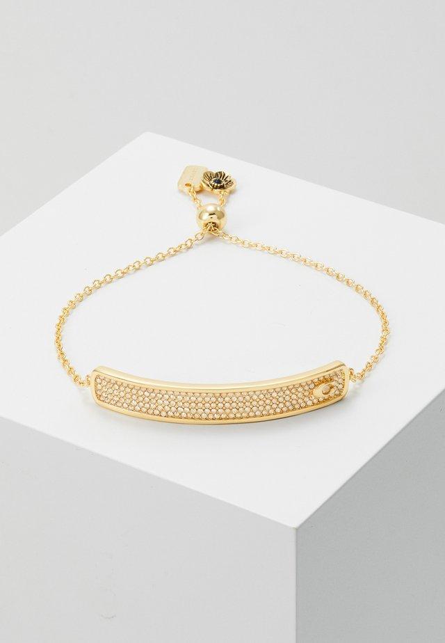 PAVE SLIDER BRACELET - Armband - gold-coloured