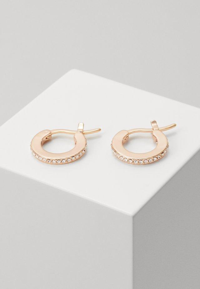 PAVE HUGGIE EARRINGS - Ohrringe - rose gold-coloured