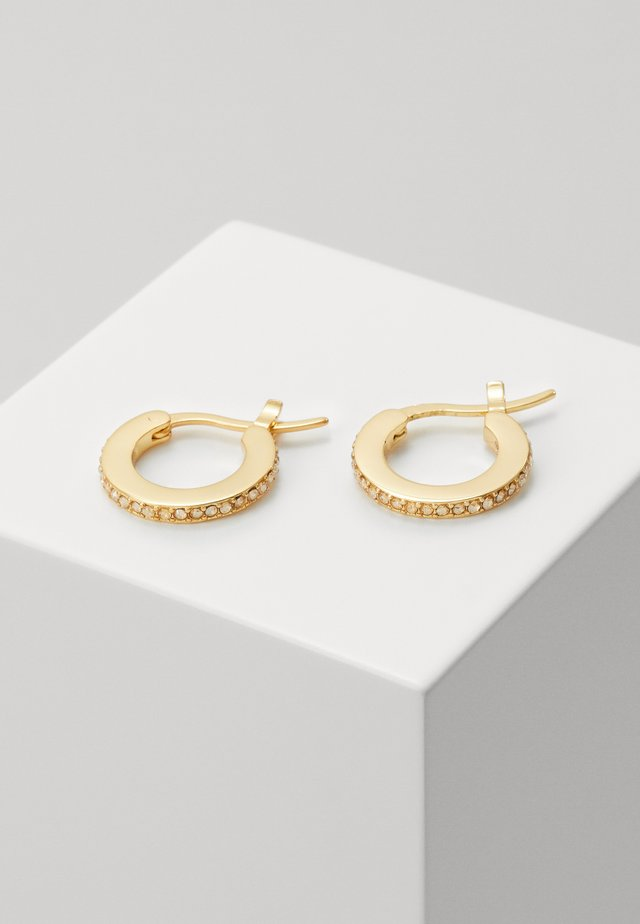 PAVE HUGGIE EARRINGS - Ohrringe - gold-coloured