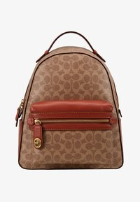 Coach - COATED SIGNATURE CAMPUS BACKPACK REFRESH - Batoh - tan rust - 6