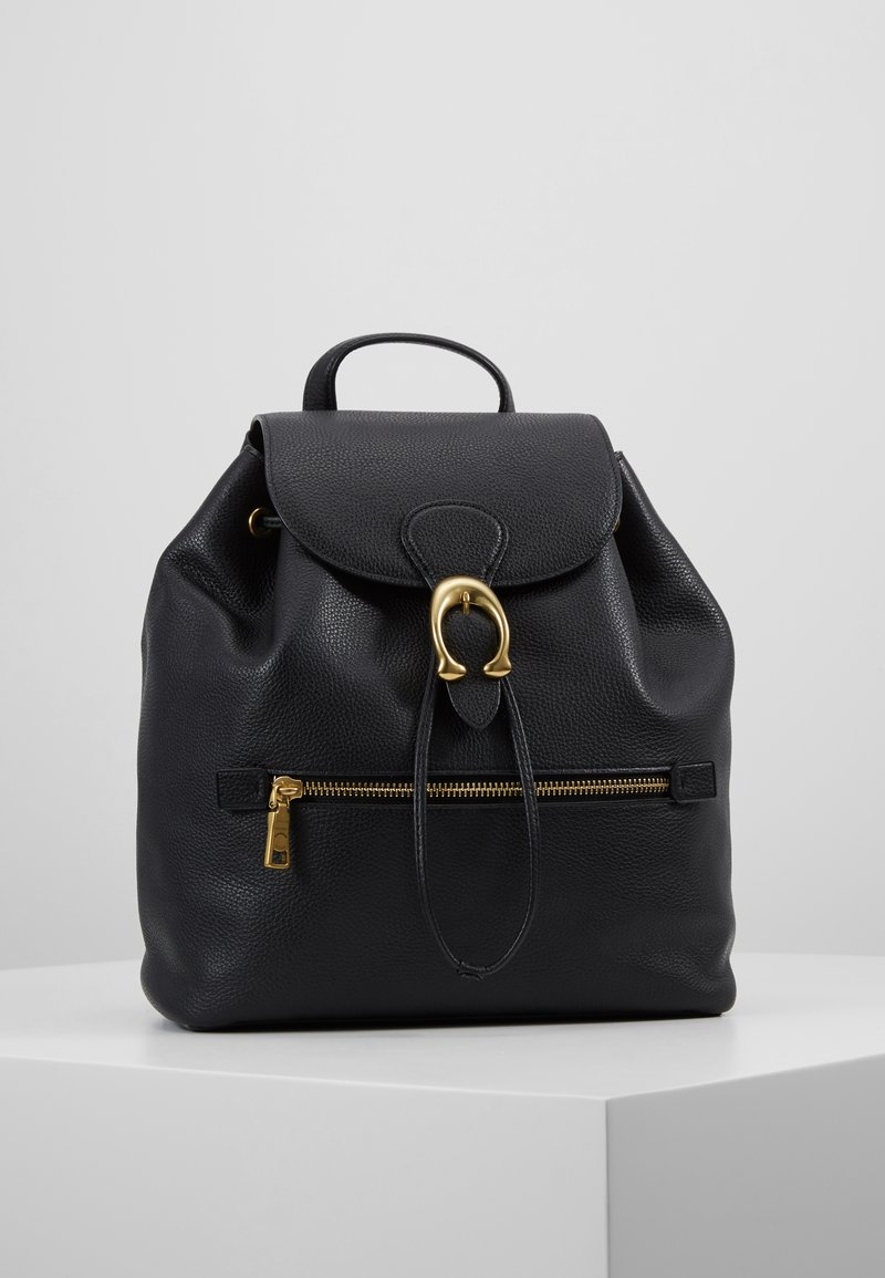 Coach - POLISHED EVIE BACKPACK - Reppu - black