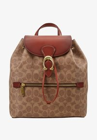 Coach - COATED SIGNATURE EVIE BACKPACK - Reppu - tan rust - 5