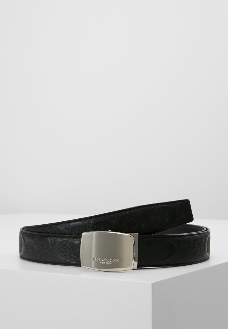 Coach - PLAQUE BELT - Belt - black/black