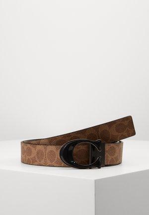 BUCKLE SIGNATURE BELT - Pásek - light brown/black