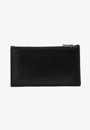 ZIP CARD CASE IN REFINED - Portfel - black