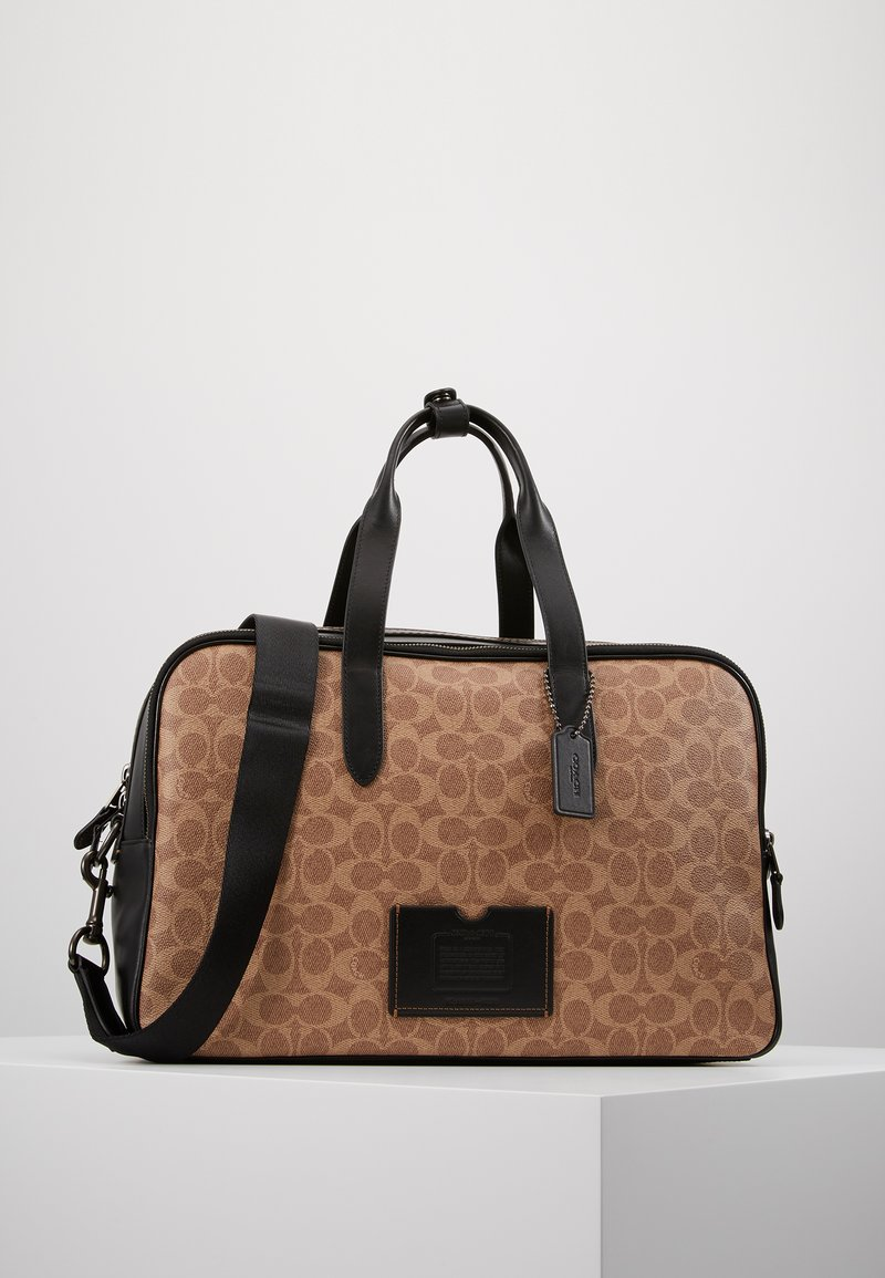 Coach - TRAVEL CARRY ON BAG IN SIGNATURE - Taška na víkend - black/khaki