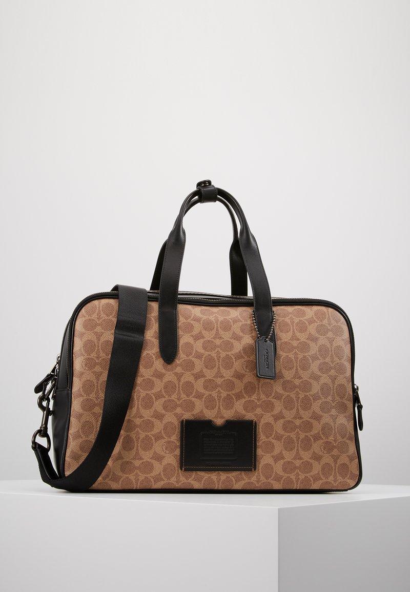 Coach - TRAVEL CARRY ON BAG IN SIGNATURE - Weekendtasker - black/khaki
