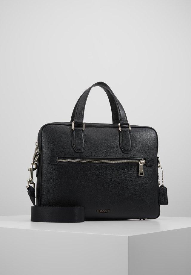 KENNEDY BRIEF IN CROSSGRAIN - Briefcase - black