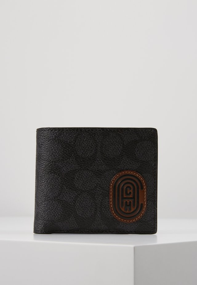 COIN WALLET IN SIGNATURE FEATURING BUBBLE PATCH - Wallet - charcoal/sport blue