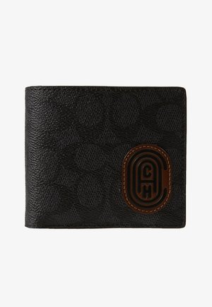 COIN WALLET IN SIGNATURE FEATURING BUBBLE PATCH - Plånbok - charcoal/sport blue
