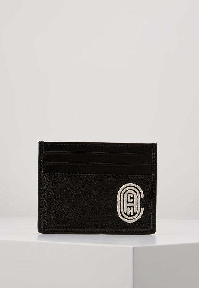 CARD CASE EMBROIDERED  - Kortholder - black/chalk