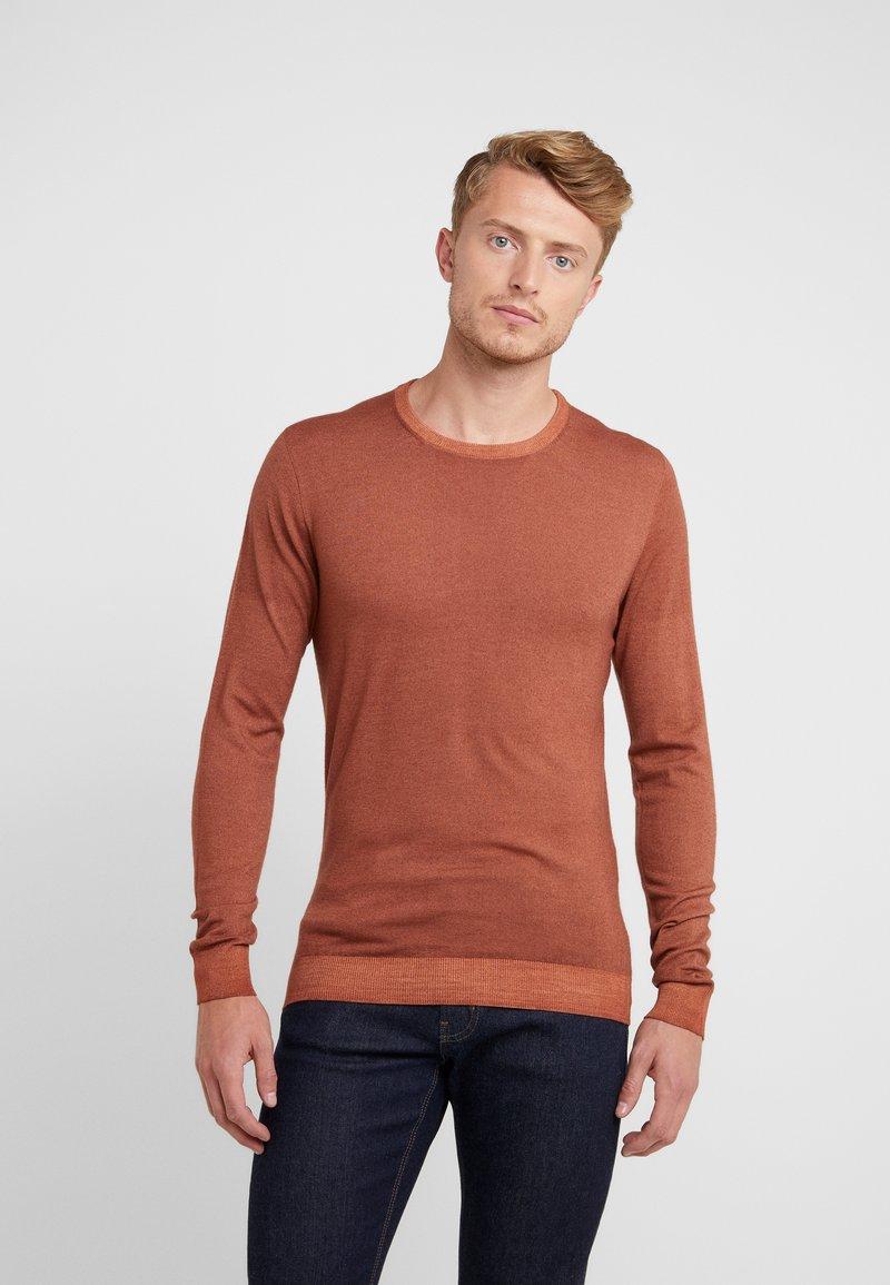 CORNELIANI - Stickad tröja - brown