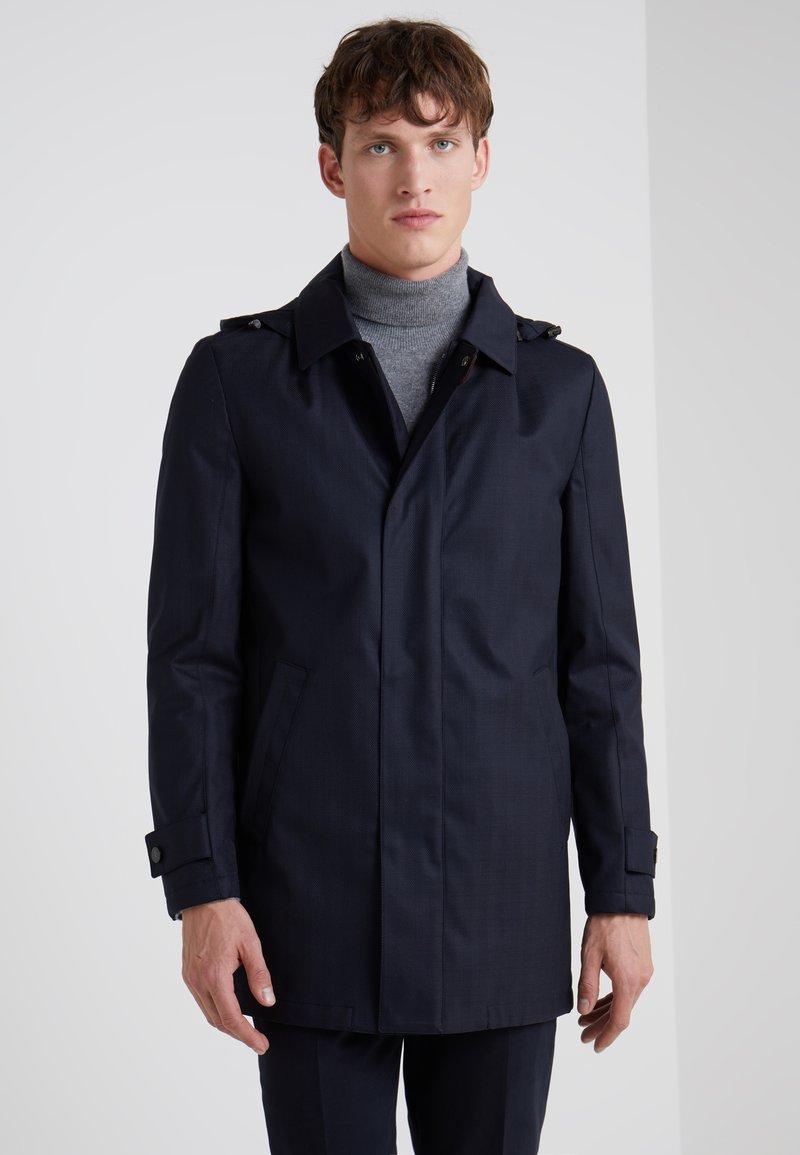 CORNELIANI - SINGLE BREASTED COAT - Cappotto corto - dark blue