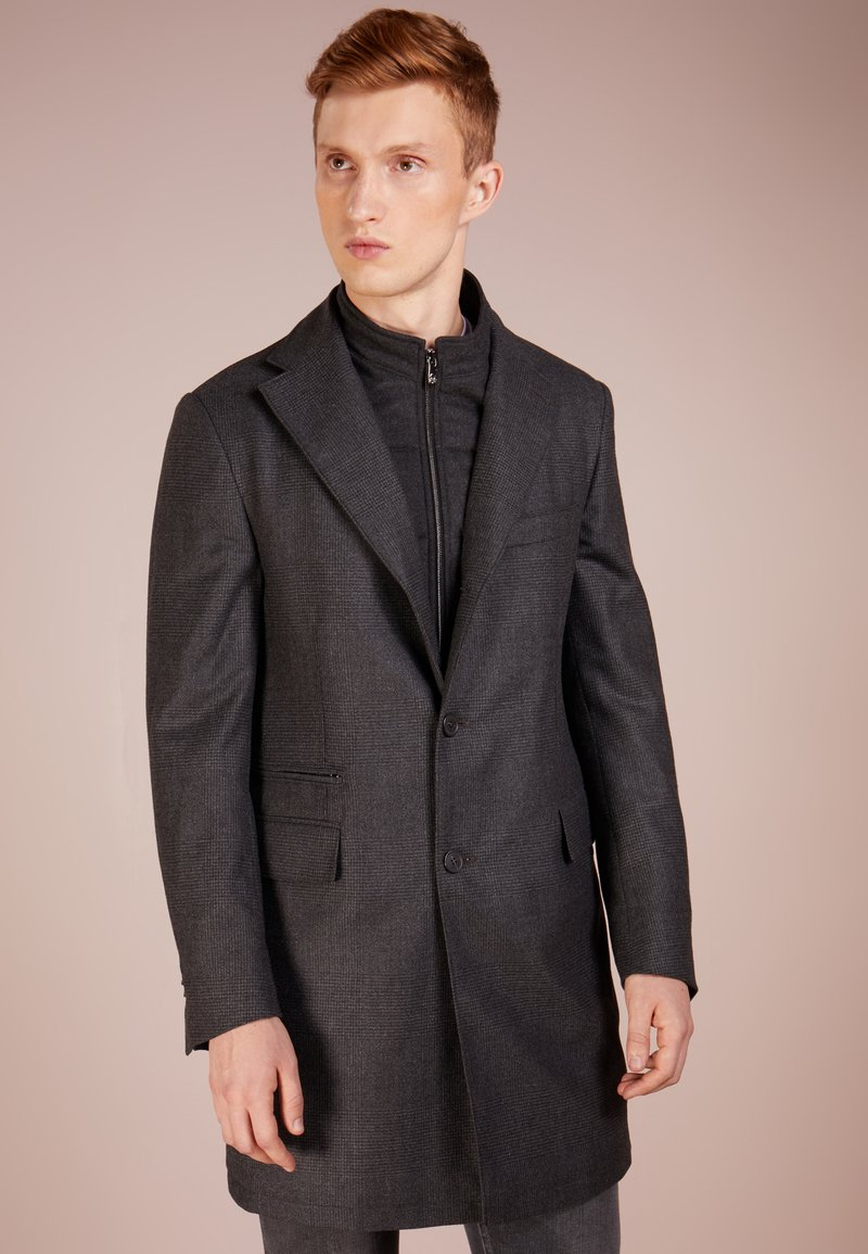 CORNELIANI - SINGLE BREASTED COAT - Abrigo - dark grey