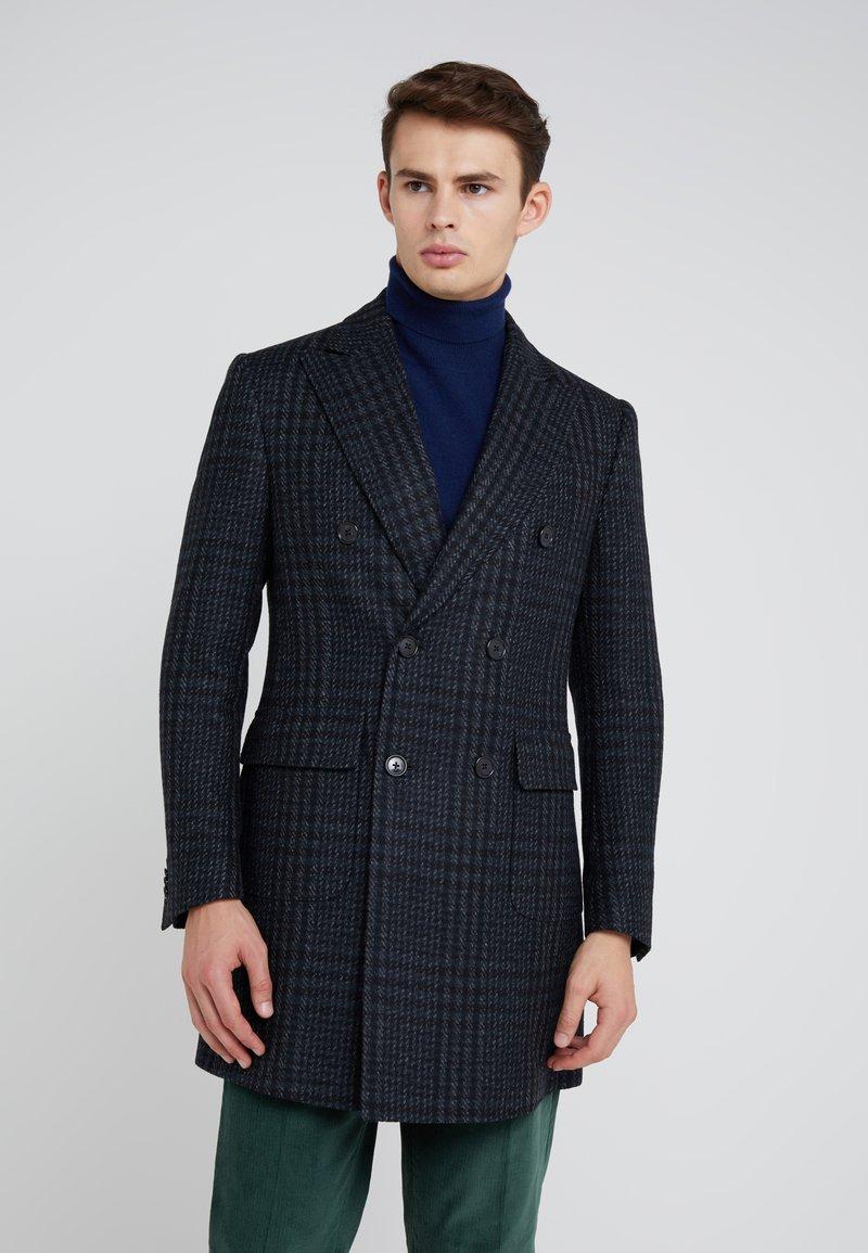 CORNELIANI - CHECK COAT - Wollmantel/klassischer Mantel - dark blue