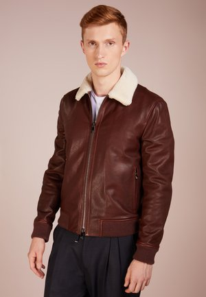 AVIATOR - Leather jacket - brown