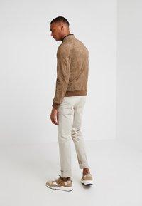 CORNELIANI - Leather jacket - beige - 2